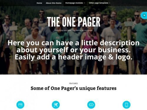 WooThemes – The One Pager