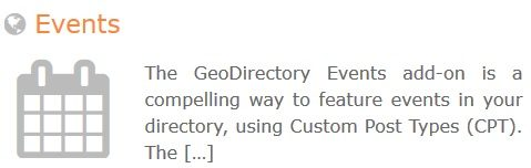 GeoDirectory – Events