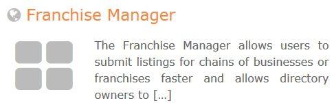 GeoDirectory – Franchise Manager