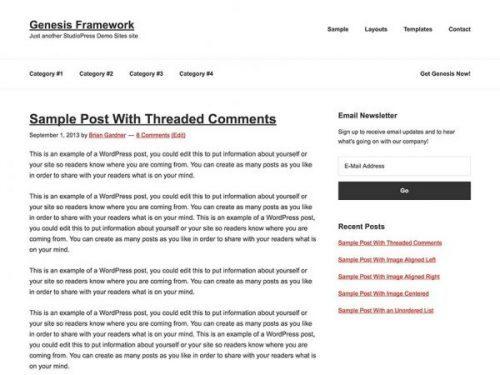 StudioPress – Genesis Framework