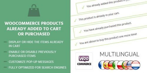 MyThemeShop – WooCommerce Products Already Added To Cart Or Purchased