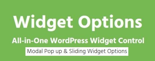Sliding Widget Options – Addon For Extended Widget Options Plugin