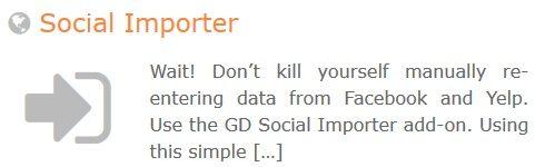 GeoDirectory – Social Importer
